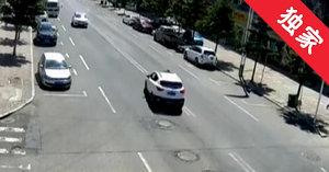 【视频】龙井街头司机未注意观察路况 行人被撞身亡