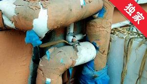 【视频】供热管道安装在室外 居民担心被冻