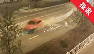 【视频】私家车逆行迎面撞上出租车 4人被困