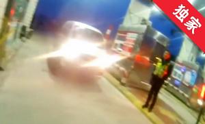 【视频】男子酒后高速逆行 情况危险被拦截