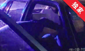 【视频】男子乘车醉酒 出租车司机无奈报警