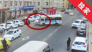 【视频】和龙一公交车溜车 在马路上横冲直撞