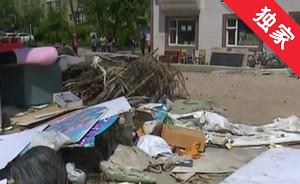 【視頻】違建垃圾占路 社區逐步清理
