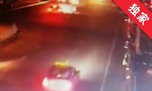 【視頻】酒后駕車撞壞護欄逃逸 被抓現形