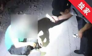 【视频】男子醉酒倒地 民警联系送医