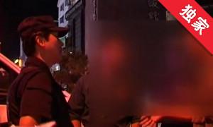 【視頻】男子飯店門口便溺 服務員報警
