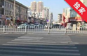 【视频】路口设置隔离护栏 市民出行需绕行