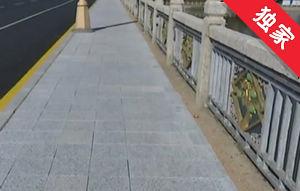 【视频】桥面彩砖不牢固 行人通行有隐患