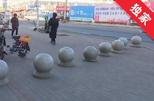 【视频】公共用地被圈围 城管及时叫停