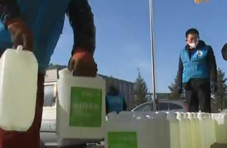 【视频】延边七水滴爱心协会捐赠2000桶消毒液