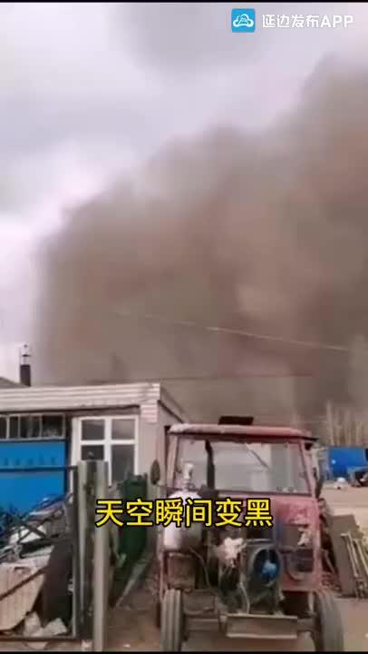 【微视频】吉林白城突发强沙尘天气一度遮天蔽日