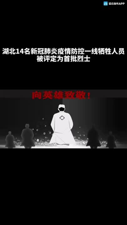 【微视频】湖北14名新冠肺炎疫情防控一线牺牲人员被评定为首批烈士