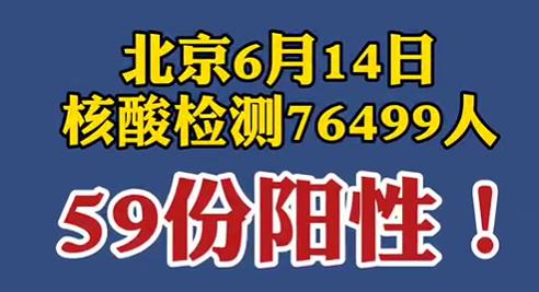 【微視頻】北京昨日核酸檢測76499人,59份陽性!