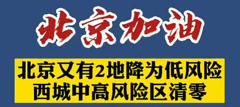 【微視頻】北京加油!北京又有兩地降為低風險,西城中高風險區清零!