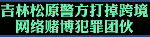【微视频】吉林松原警方打掉跨境网络赌博犯罪团伙!