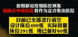 【微視頻】云南瑞麗設立定點收治醫院已備好床位80張 大理200名醫護人員連夜支援一線