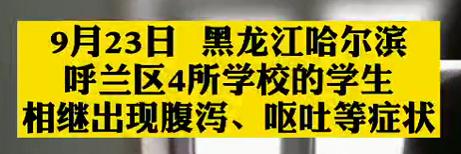 【微视频】哈尔滨4所学校200余学生腹泻呕吐:饭已留样送检