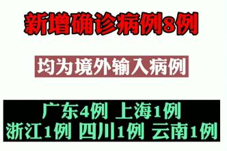 【微視頻】防控別大意!31省區市新增8例確診均為境外輸入