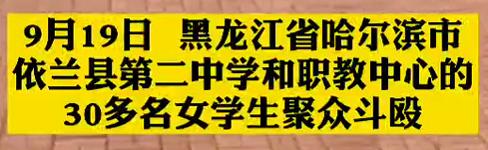 【微视频】黑龙江依兰回应两伙女学生聚众斗殴:两校长免职,多人被处分
