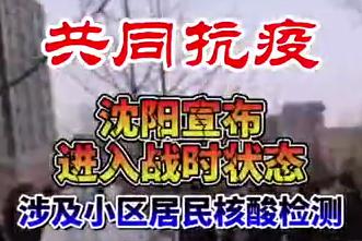 【微视频】共同抗疫!沈阳全市进入战时状态!