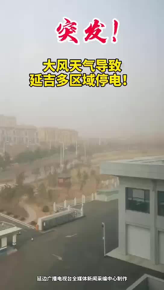 突发!大风天气导致延吉多区域停电!