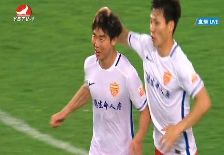尹比加兰扳回一球 广州恒大1:1延边富德【视频】