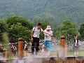 湖南张家界:景区喷雾送清凉