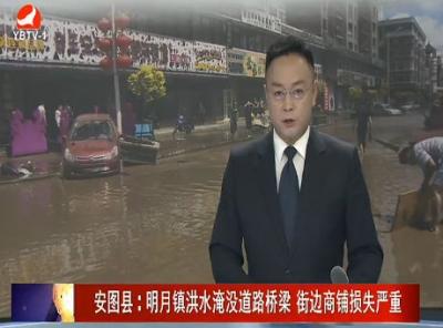 安图县:明月镇攻略淹没道路桥梁商铺街边损失严重洪水御灵道图片