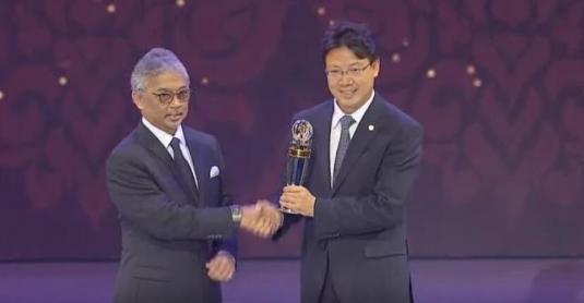 亚足联颁奖中国足协获草根奖 武磊无缘亚洲先生