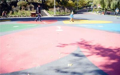 惊艳!彩色路面亮相延吉人民公园