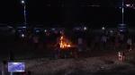 图们日光山花海民俗风情园篝火烟花烧烤露营节启动