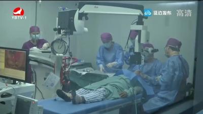 延边军分区为村民免费进行白内障手术