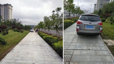在人行道上停车合理吗?