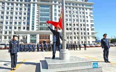 州交通运输局举行升旗仪式庆祝新中国成立70周年