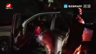 货车司机被困 安图消防及时救援