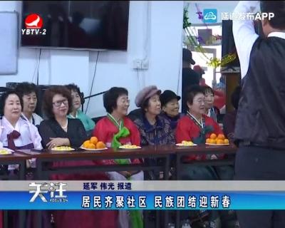 居民齐聚社区 民族团结迎新春