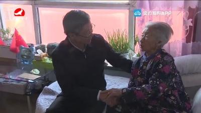 姜虎權走訪慰問老黨員和生活困難群眾