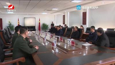 姜治瑩金壽浩走訪慰問延邊軍分區