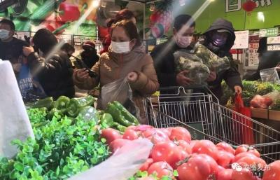 安图县2家超市销售平价生活物资