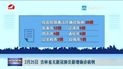 2月25日 吉林省无新冠肺炎新增确诊病例