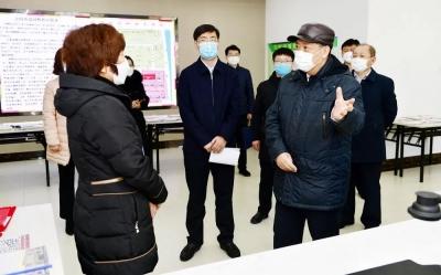 姜治莹到延吉市调研疫情防控工作