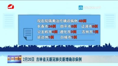 2月20日 吉林省无新冠肺炎新增确诊病例