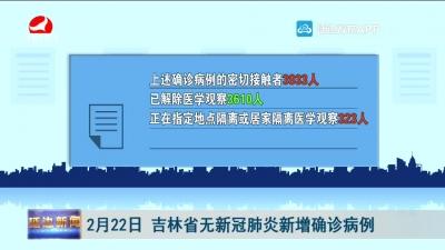 2月22日 吉林省无新冠肺炎新增确诊病例