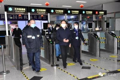 金寿浩在延吉西站和延吉朝阳川国际机场检查指导疫情防控工作