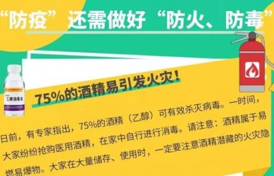 吉林省应急管理厅疫情防控期间居家使用消毒产品安全提示