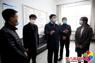 蔡奎龙调研高三开学准备情况和护林防火工作