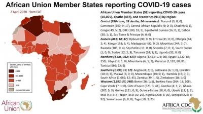 非洲52国确诊新冠肺炎累计超万例 仅2国未报告确诊