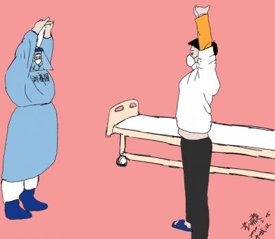 """还记得雷神山医院的""""网红墙""""吗?长春中医抗疫的漫画又在这里描绘"""