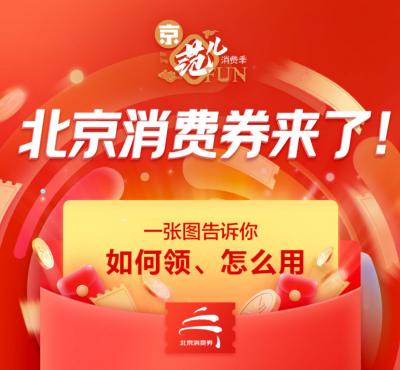 6月6日起,北京将发放122亿元消费券