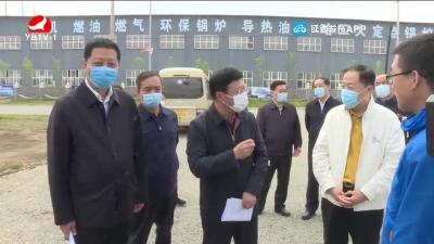韩兴海到敦化包保企业调研
